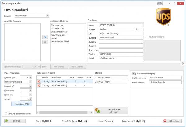 ShipXpert UPS Standard für SelectLine