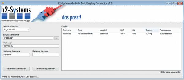 h2 DHL Easylog Connector fuer SelectLine